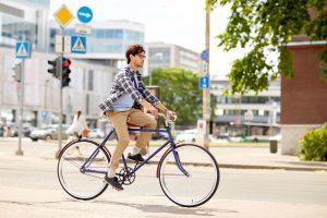 自転車を運転